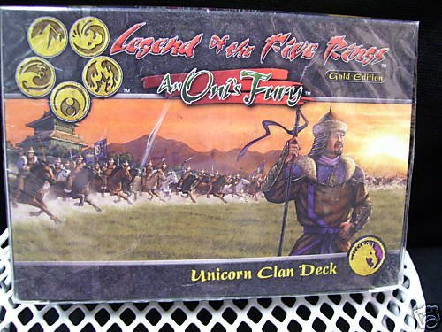 Legend of the Five Rings - An Oni's Fury - Unicorn Clan Deck - GOLD EDITION