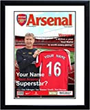 Personalised Arsenal Magazine Cover