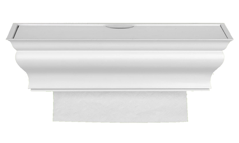 paper towel dispenser white healthy shelf single sheet wall mount
