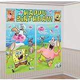 Amscan Mens SpongeBob Scene Setter Decoration Set Blue/green Medium
