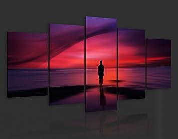 impression sur toile 200x100 200x100 cm grand format 5 parties parties image sur. Black Bedroom Furniture Sets. Home Design Ideas
