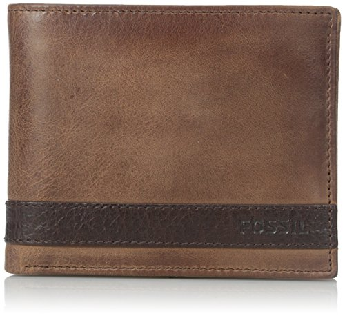 fossil-mens-quinn-bifold-with-flip-id-brown-one-size