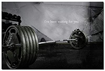 Bodybuilding Fitness Inspirational Quotes Art Silk Poster 24x36inches