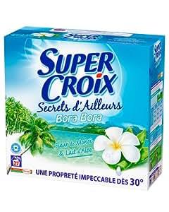 Super Croix - Secrets d'Ailleurs - Lessive en Poudre - Bora Bora - Boîte 1,89 kg / 27 Lavages