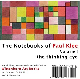 the thinking eye the notebooks of paul klee volume i paul klee 9780815001515 books. Black Bedroom Furniture Sets. Home Design Ideas