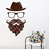 Decal Style Face Wall Sticker Small Size-17*30 Inch - B00WSMHD58
