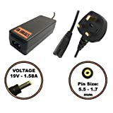 UK-EDEALS® Top Quality Charger 19V Adaptor Charger For E-Machines eMachines 350 EM350 + LEAD POWER CORD Ordinateur portable Adaptateurs Chargeur Pour with LEAD POWER CORD CABLE