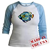 Tropical Fish 1 Animal Jr. Raglan by CafePress