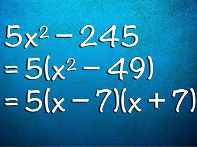 Algebra I (Beginning Algebra) Season 1 Episode 20