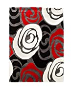 "Tomasucci Alfombra Tappeto""Rose Red And Black"" 140 x 190 cm"