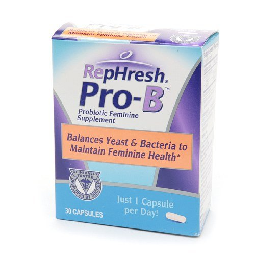 RepHresh ProB Vaginal Probiotic Feminine Supplement, 30 count Pack