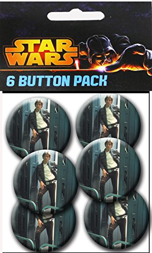 C&D Visionary Star Wars Han Doorway 1.5 Inch Button, (6-Piece)