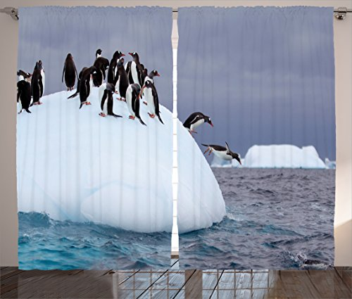 ambesonne-sea-animals-decor-collection-penguins-jumping-into-water-from-iceberg-dark-clouds-wild-ant