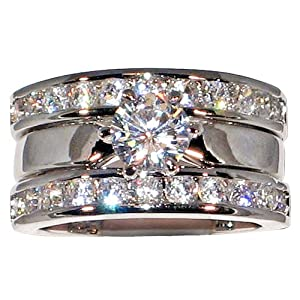 diamond wedding ring guards - Wedding Ring Guards