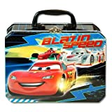 Lunch Box - Disney - Cars - Metal Tin Case w/ Plastic Handle & Clasp