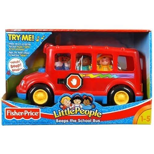 Fisher Price (휘셔 프라이스) Little People Beeps the Musical School Bus 피규어 장난감 인형 (병행수입)-