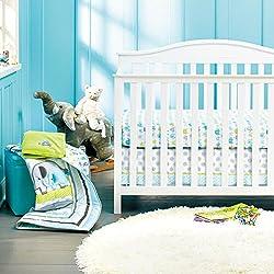 New Baby Safari Elephant 8pcs Crib Bedding Set: 4)bumper,1)quilt,1)sheet,1)fleece blanket,1)dust ruffle
