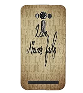PrintDhaba Quote D-5540 Back Case Cover for ASUS ZENFONE 2 LASER ZE550KL (Multi-Coloured)