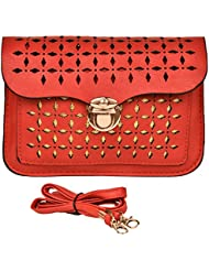 Technocraft Women's Synthetic Trendy Sling Bag Red (HM00013)
