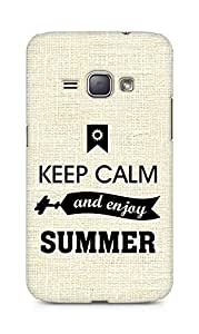 Amez Keey Calm and Enjoy Summer Back Cover For Samsung Galaxy J1 2016
