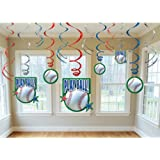 Baseball - Swirl Decorations Party Accessory