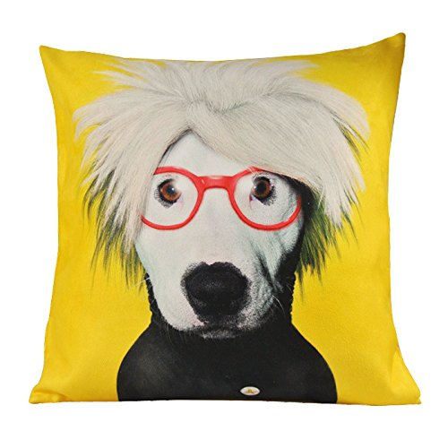 nava-yellow-funky-dog-pop-art-artist-decorative-pillowcase-cushion-cover