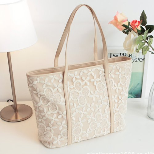 Lace Flower Big Handbag Shoulder Bag