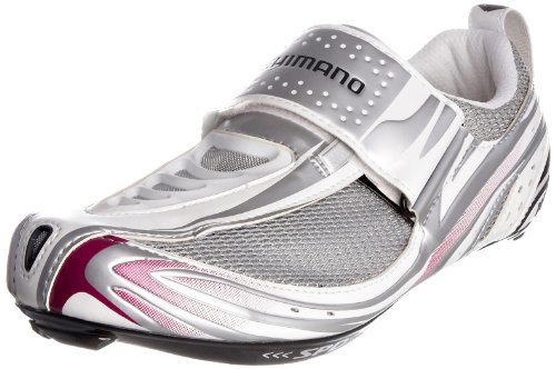 Shimano Women's WT52 White/Purple Cycling Shoe BWT5238 4 UK