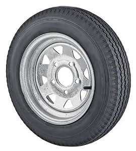 12 x 4 Galvanized Steel Spoke Trailer Wheel 4 Lug w/ 4.80-12 Trailer Tire LR C Package