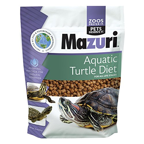 Mazuri Aquatic Turtle Diet, Extruded 3.9mm Floating Pellet Is Designed ...