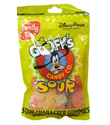 Disney World Parks Goofy Candy Co. Assorted Flavor Sour Character Gummies Family Size 6 oz. Bag Sealed - NEW (Goofy Candy Co compare prices)