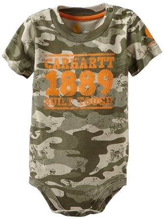 Amazon Carhartt Baby Boys Infant Camo Logo Bodysuit