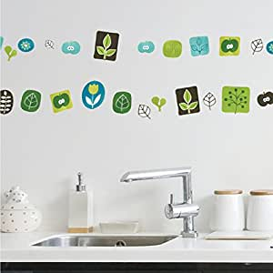 ... Twigs Apple Peel & Stick, Green/Blue/Black: Arts, Crafts & Sewing