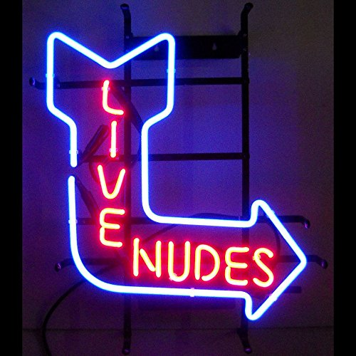 New Live Nudes Real Glass Tube Beer Bar Pub Neon Sign Lights for Store Display and Advertising 17*14