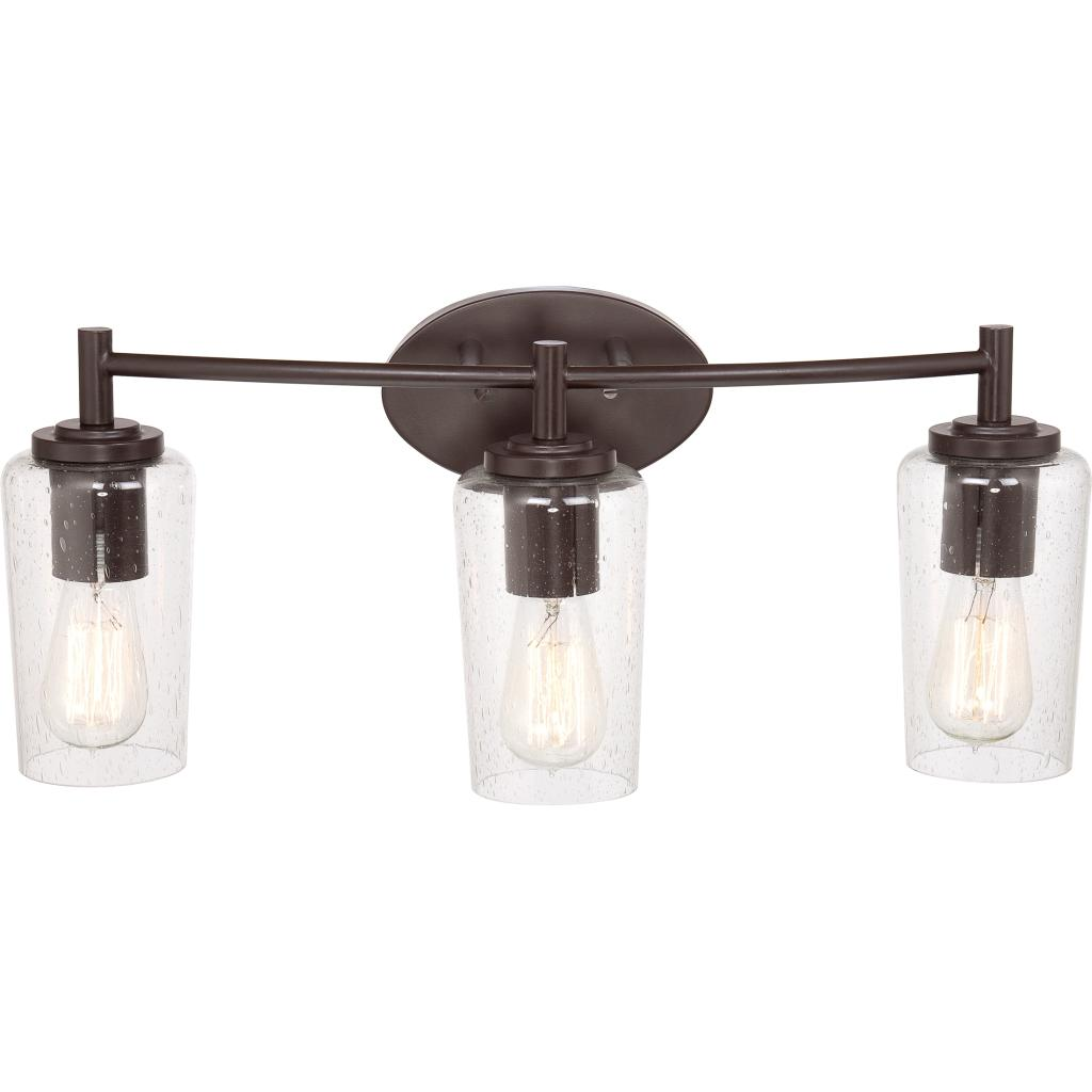 Quoizel eds8603wt edison with western bronze finish bath for Bathroom 3 light fixtures