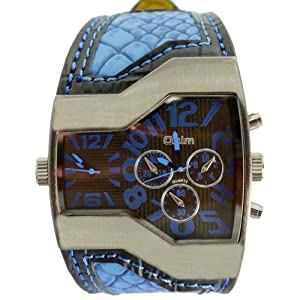 Oulm Unique Quartz Analog Dark Blue Dial Men Watch