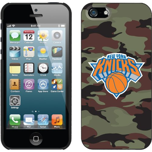 Best Price New York Knicks - Camo design on a Black iPhone 5 Thinshield Snap-On Case by Coveroo
