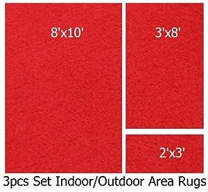 Amazon Com Indoor Outdoor Nature Red 3 Piece Set Patio