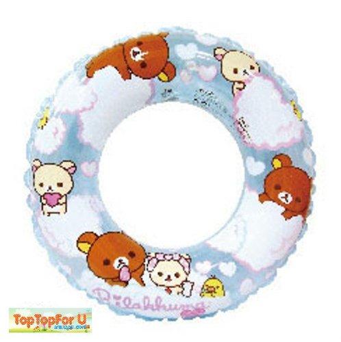 San-X Rilakkuma Bear Transparent Blue Children Swimming Ring
