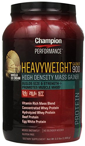 Champion Nutrition Heavyweight Gainer 900 Calorie High-Density Mass Gainer, Vanilla Ice Cream 3.3 Pounds (Weight Gain 900 Calories compare prices)