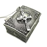 Ruimeng Silver Plated Fast & Furious Dominic Toretto's Cross Necklace with Jewelry Box Christmas Gift