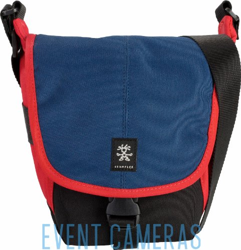 Crumpler 3 Million Dollar Home Camera Bag For Dslr Camera With Zoom, Navy/Rust Red