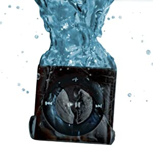 NEW SLATE - 100% WATERPROOF Apple iPod shuffle - waterproofed by UNDERWATER AUDIO for swimming, surfing and dancing in the rain