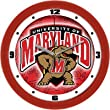 Maryland Terrapins Suntime 12&quot; Dimension Glass Crystal Wall Clock - NCAA College Athletics