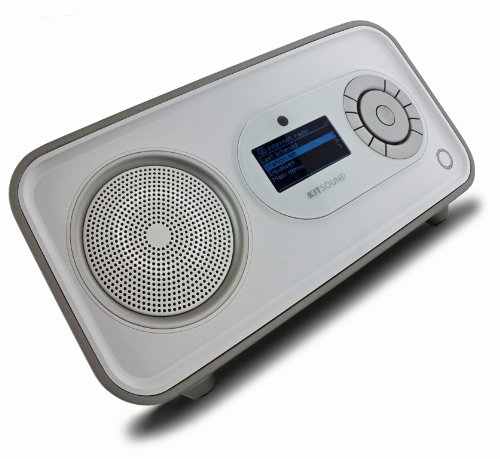 Kitsound KSPULSE Pulse Internet Radio with DAB - White/Silver