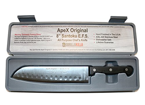 "ApeX Original 8"" Santoku Knife Chef's Knife with Free Insulated Case"