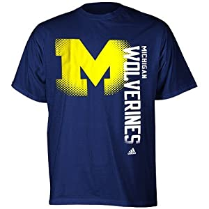 Buy adidas Michigan Wolverines Navy Blue Battlegear T-shirt by adidas