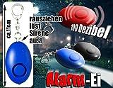 Taschenalarm Alarm Ei-Schwarz