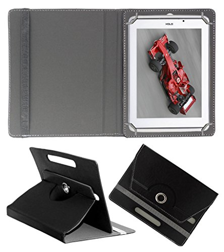 ACM ROTATING 360° LEATHER FLIP CASE FOR XOLO QC800 TABLET STAND COVER HOLDER BLACK  available at amazon for Rs.159