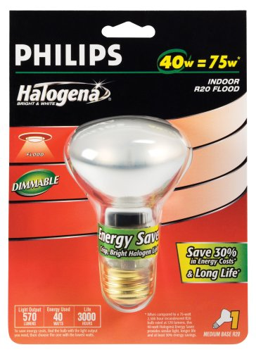Philips 40-Watt R20 Halogena Energy Saver Reflector Flood Light Promo Offer